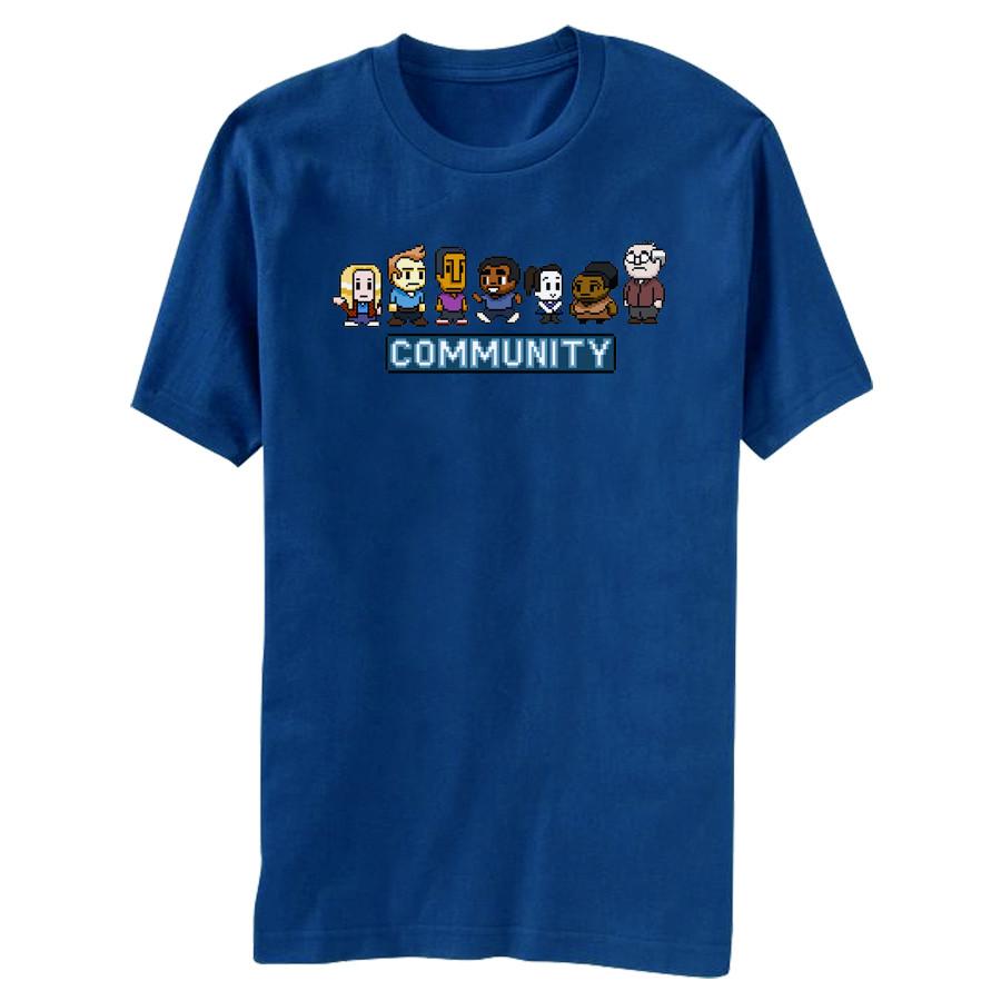 Community 8 Bit T Shirt - NerdKungFu 2281321d9ddd