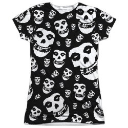 Image for The Misfits Girls Sublimated T-Shirt - Fiends All Over 100% Polyester