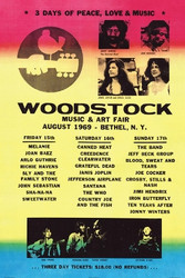 Image for Woodstock Line Up Poster