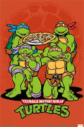 Image for Teenage Mutant Ninja Turtles Poster - Pizza