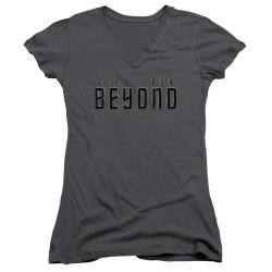 Image for Star Trek Beyond Girls V Neck - Logo