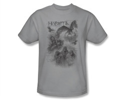 Image Closeup for The Hobbit Sketches T-Shirt