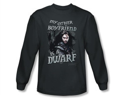 Image Closeup for The Hobbit My Other Boyfriend is a Dwarf long sleeve T-Shirt