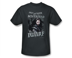 Image Closeup for The Hobbit My Other Boyfriend is a Dwarf T-Shirt