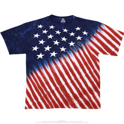 Image for Stars And Stripes Tie-Dye T-Shirt