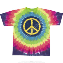 Image for Hippie Peace Tie-Dye T-Shirt