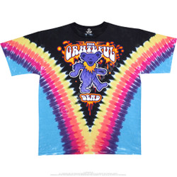 Image for Grateful Dead - Liquid Bear V Tie-Dye T-Shirt