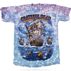 Image for Grateful Dead - Ship Of Fools Tie-Dye T-Shirt