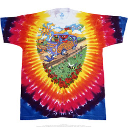 Image for Grateful Dead - Summer Tour Bus Tie-Dye T-Shirt