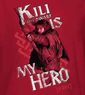 Image for The Hobbit Womens T-Shirt - Kili is My Hero