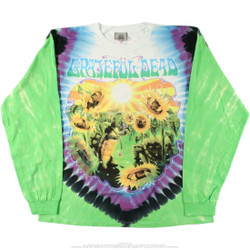 Image for Grateful Dead - Sunflower Terrapin Tie-Dye Long Sleeve T-Shirt