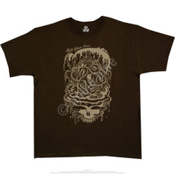 Image for Grateful Dead - Dead Melt Brown Athletic T-Shirt