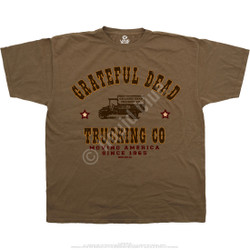 Image for Grateful Dead - GD Truckin Brown T-Shirt