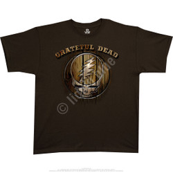 Image for Grateful Dead - Dead Brand Brown Athletic T-Shirt