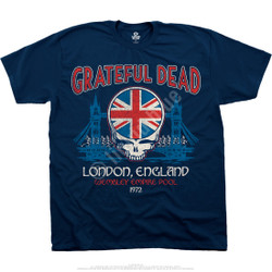 Image for Grateful Dead - Wembley Empire Pool Navy Athletic T-Shirt