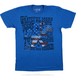 Image for Grateful Dead - Mars Hotel Blue Heather Poly-Cotton T-Shirt