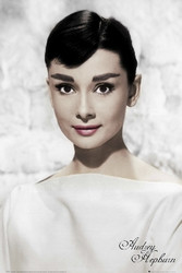 Image for Audrey Hepburn Poster - White