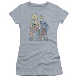 Image for Sesame Street Girls T-Shirt - Colorful Group