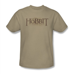 Image Closeup for The Hobbit Desolation of Smaug Textured Logo T-Shirt