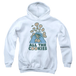 Image for Sesame Street Youth Hoodie - Cookie Monster All the Cookies