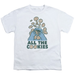 Image for Sesame Street Youth T-Shirt - Cookie Monster All the Cookies