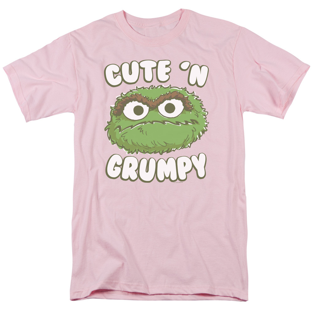 3fac5a138 Sesame Street T-Shirt - Oscar Cute 'n Grumpy - NerdKungFu