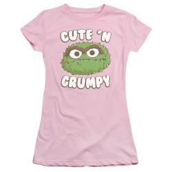 Image for Sesame Street Girls T-Shirt - Oscar Cute 'n Grumpy