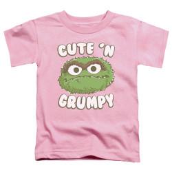 Image for Sesame Street Toddler T-Shirt - Oscar Cute 'n Grumpy