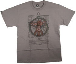 Image Closeup for Vitruvian Steam Punk T-Shirt