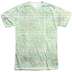 Image for Sesame Street T-Shirt - Puzzle Pattern