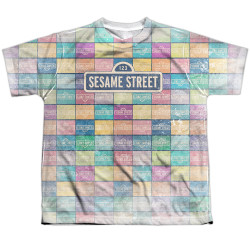 Image for Sesame Street Youth T-Shirt - Puzzle Pattern