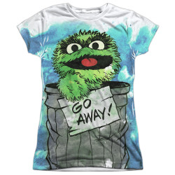 Image for Sesame Street Girls T-Shirt - Oscar the Grouch Go Away