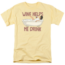 Image for Bob's Burgers T-Shirt - Wine Helps