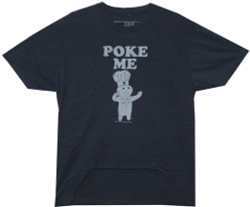 Image Closeup for Pillsbury Dough Boy Poke Me Distressed T-Shirt