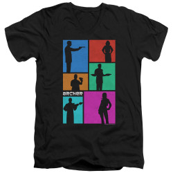 Image for Archer V Neck T-Shirt - Silhouettes