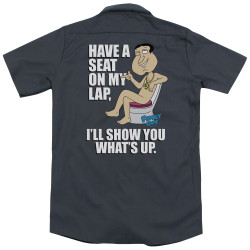 Image Closeup for Family Guy Dickies Work Shirt - What's Up