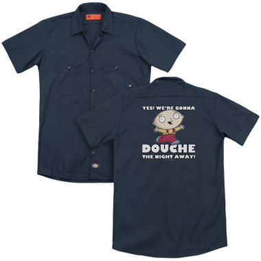 Image for Family Guy Dickies Work Shirt - Douche the Night Away