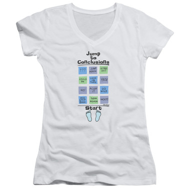 Image for Office Space Girls V Neck - Jump to Conclusions