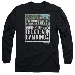 Image for The Sandlot Long Sleeve Shirt - the Great Bambino