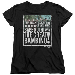 Image for The Sandlot Womans T-Shirt - the Great Bambino