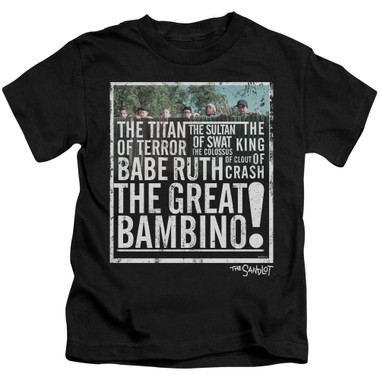 Image for The Sandlot Kids T-Shirt - the Great Bambino