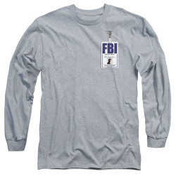 Image for X-Files Long Sleeve Shirt - Mulder Badge