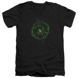 Image for Alien V Neck T-Shirt - Xenomorph Shield