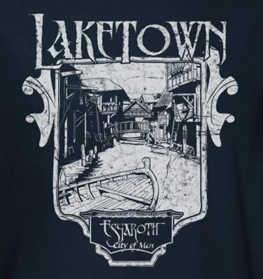 Image for The Hobbit Desolation of Smaug Laketown Sign T-Shirt