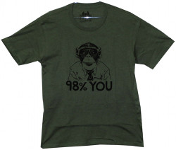 Image Closeup for Monkey 98% You T-Shirt