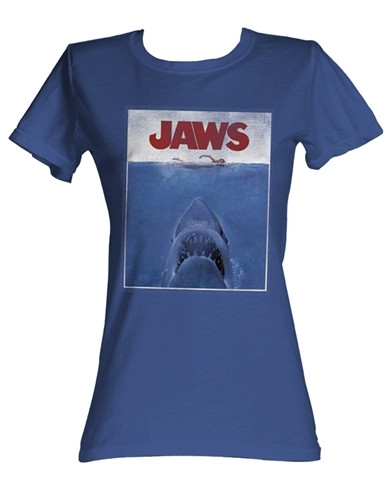 9c283434 Jaws Movie Poster Girls T-Shirt - NerdKungFu