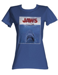 Image for Jaws Movie Poster Girls T-Shirt