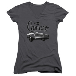Image for General Motors Girls V Neck - Script Car