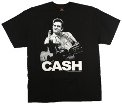 Image Closeup for Johnny Cash Flipping T-Shirt