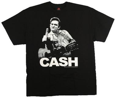 Johnny Cash Flipping T Shirt Nerdkungfu